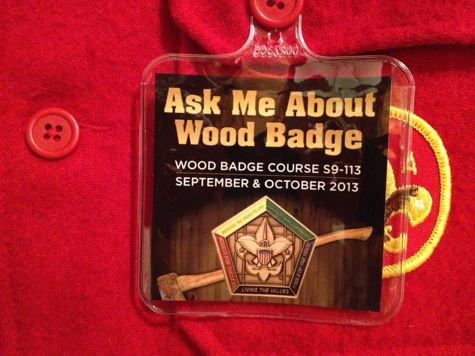 Ask Me About WoodBadge